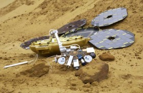 A model of Beagle 2 as it would appear on Mars. All rights reserved Beagle 2