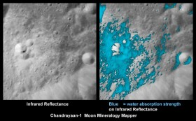 Water in space on the Moon