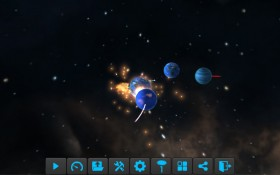Particle Planets: multiple planets colliding