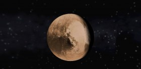 Pluto as seen in Solar Explorer